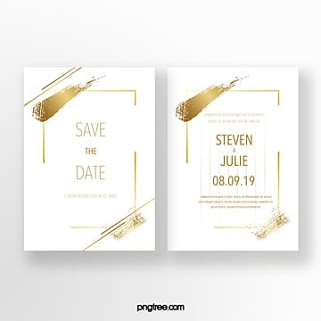golden ink effect typography wedding invitation Template