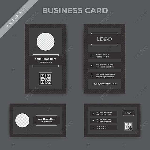 Schwarz Weiß Visitenkarte Vorlage Prächtiges Muster Und