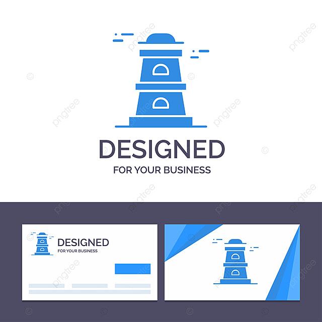 Kreative Visitenkarte Und Logo Template Observatorium Turm