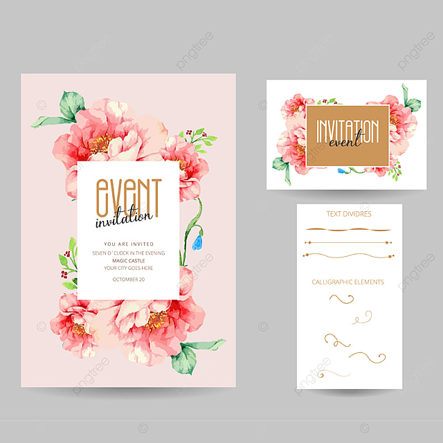 Event Invitation Card Template For Free Download On Pngtree