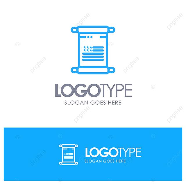 Amerikanische Blättern Sie Text Usa Blue Outline Logo Place