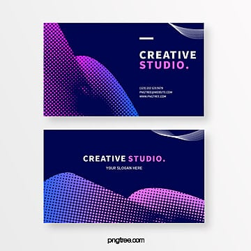blue gradient halftone creative style business card Template