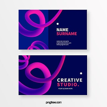 dark fashion line creative style business card design Template