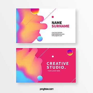 design of creative geometry business card in red system Template