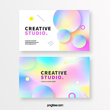 design of fuzzy gradual creative business card in pink Template