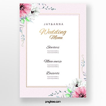 elegant lace wedding menu template wedding menu Template