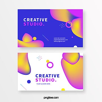fashion bright color creative style business card Template