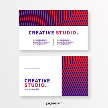 geometric bar creative style element business card Template