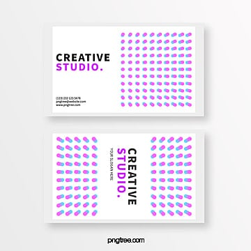 micro stereoscopic circular color creative style business card Template