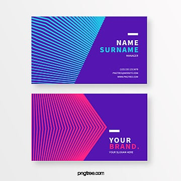 neon bar geometry creative style business card Template