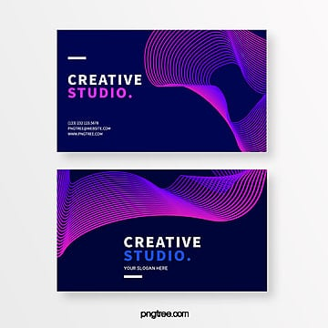 neon gradient line creative style business card Template