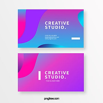 neon surface creative style business card Template