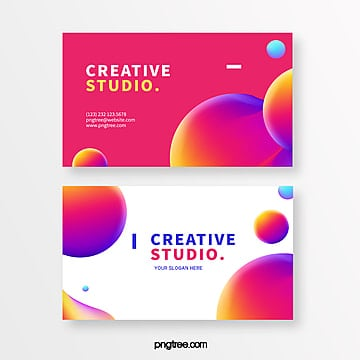 red card with round creative style Template