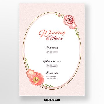simple chinese wedding menu template Template