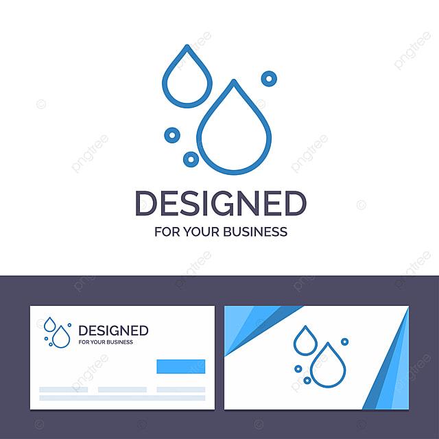 Kreative Visitenkarte Und Logo Vorlage Wasser Tropfen Quelle