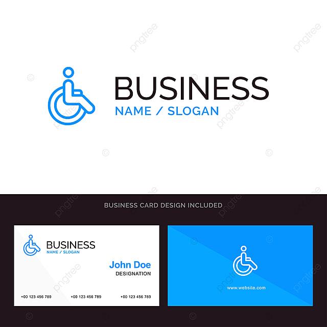 Fahrrad Logo Und Visitenkarte Vorlage Für Rollstuhlfahrer