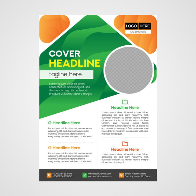 Simple And Clean Modern Business Flyer Design Template for