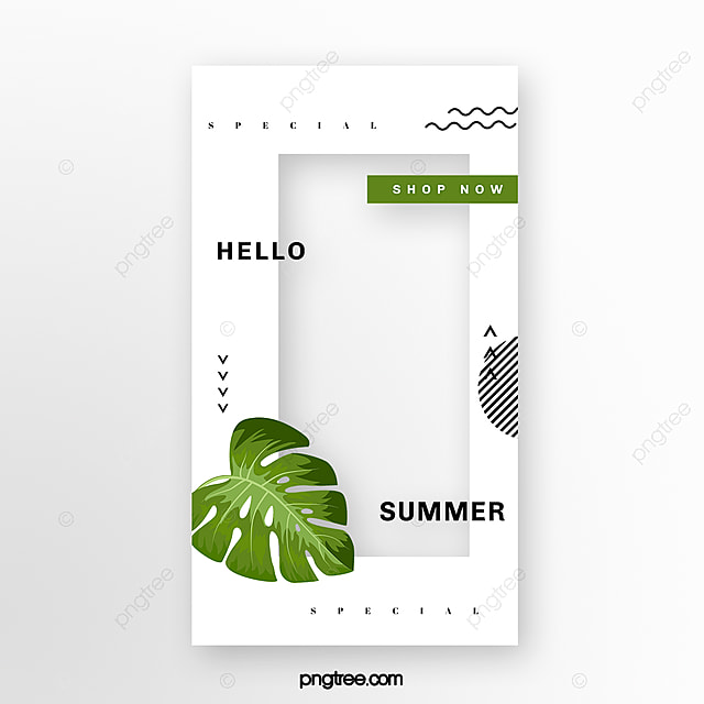 Simple Summer Plant Social Media Template Box Template for