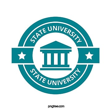 blue fresh creative circular university educational symbol Template