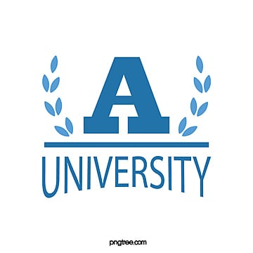 blue fresh leaf letter university educational symbol Template