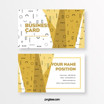 business atmosphere brown memphis geometric card Template