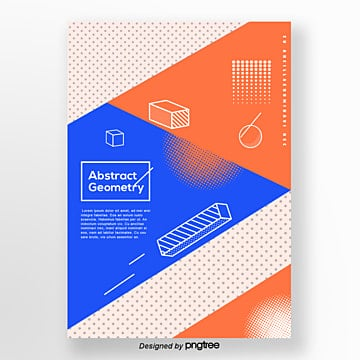 color abstract geometry dot creative poster Template