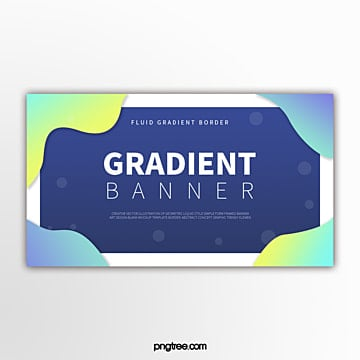 color gradient fluid bubble decorative border abstract banner Template