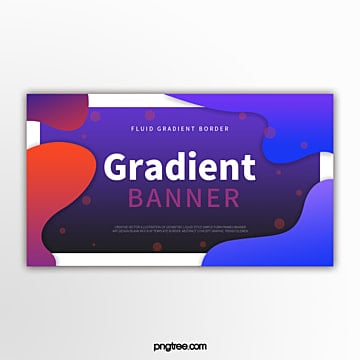 color gradient fluid wave decorative border abstract banner Template