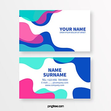 colour fluid pattern geometry memphis abstract business card Template