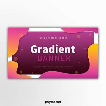 colour gradient fluid geometric decorative border abstract banner Template