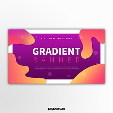 colour gradient liquid shape decorative border abstract futurist banner Template