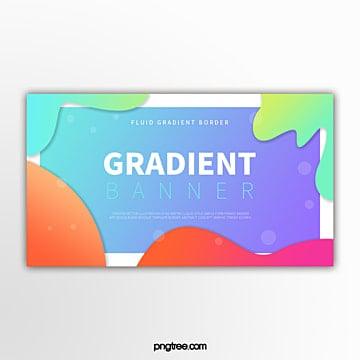 colour gradual geometric fluid decorative border modern abstract banner Template