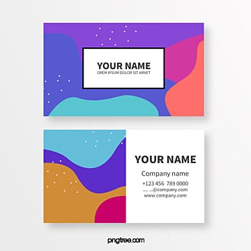 colour memphis fluid point texture abstract business card Template