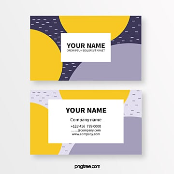 colour memphis fluid shape texture abstract business card Template