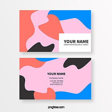 coloured memphis fluid shape abstract business card Template