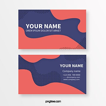 coloured memphis geometric graphics spotted abstract business card Template