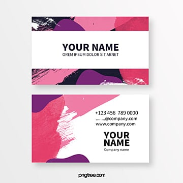 coloured memphis geometric simple business card Template