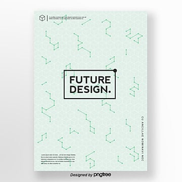 creative poster with light green futuristic style Template