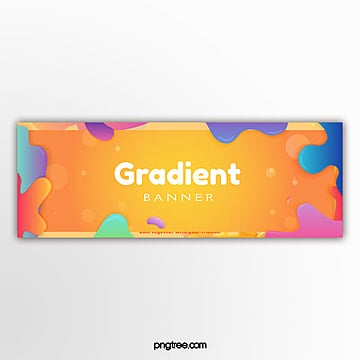 fluid color banner Template