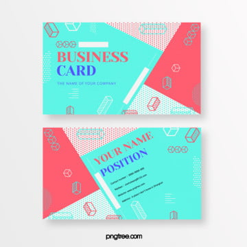 fresh blue red colour memphis fluid card Template