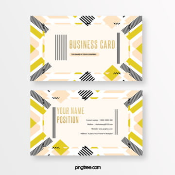 fresh fashion black gold memphis business card Template