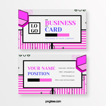 fresh fashion pink memphis business card Template