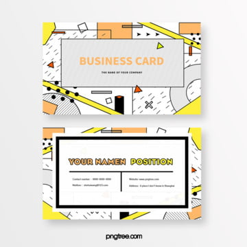 fresh grey brown geometric memphis card Template