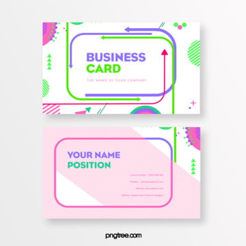 fresh memphis arrow fluid card Template