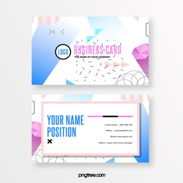 fresh memphis irregular business card Template