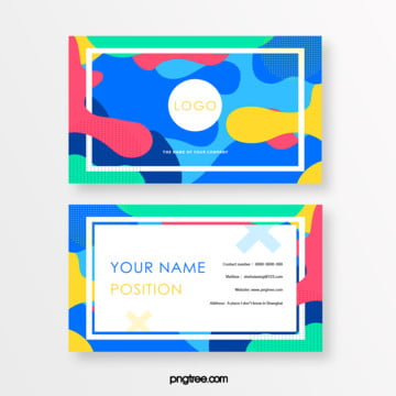fresh memphis irregular fluid card Template