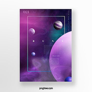 gradual cosmic planet science and technology poster Template