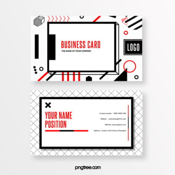memphis geometric card Template