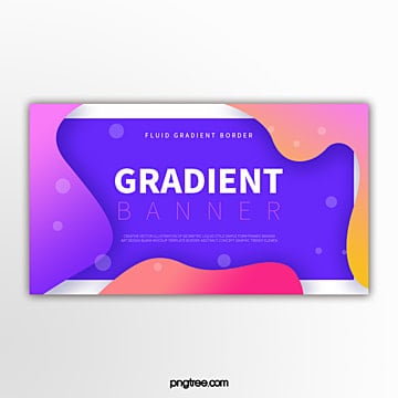 simple banner of color gradient fluid curve border Template