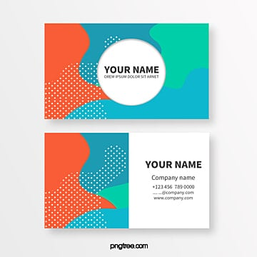 simple business card with color memphis liquid bubble shape Template